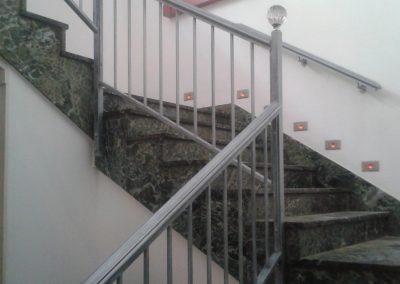 Baranda escalera. Después