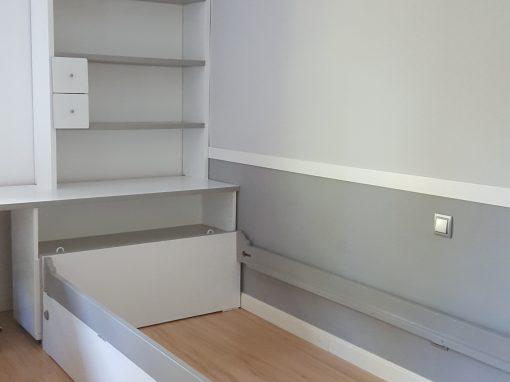 Dormitorio juvenil tonos grises